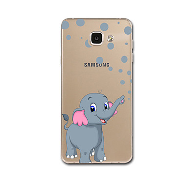 voordelige Galaxy A-serie hoesjes / covers-hoesje Voor Samsung Galaxy A5 (2017) / A7 (2017) / A7(2016) Ultradun / Patroon Achterkant Olifant Zacht TPU