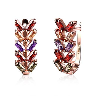 Pentru femei Cercei Stud Zirconiu Cubic Personalizat Γεωμετρικά Design Circular Design Unic Stil Atârnat Clasic Vintage Boem De Bază