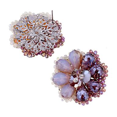 Κουμπωτά Σκουλαρίκια Κρυστάλλινο Μοντέρνα Εξατομικευόμενο Euramerican Κράμα Βυσσινί Κοσμήματα Για Γάμου Πάρτι Γενέθλια 1 ζευγάρι