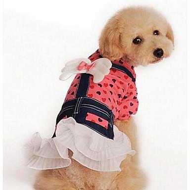 Câine Rochii Îmbrăcăminte Câini Crăciun Draguț Casul/Zilnic Modă Prințesă Galben Roz Costume Pentru animale de companie