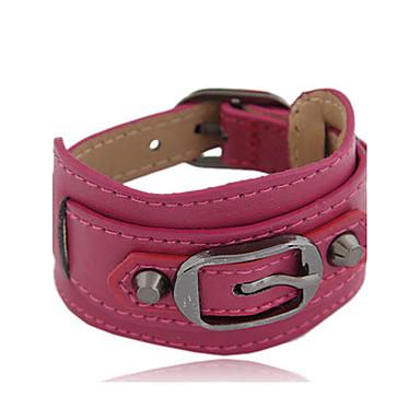 Dames Geometrisch Lederen armbanden - Leder Vintage, Bohémien, Natuur Armbanden Groen / Blauw / Donker rood Voor Kerstcadeaus / Vuosipäivä / Verjaardag