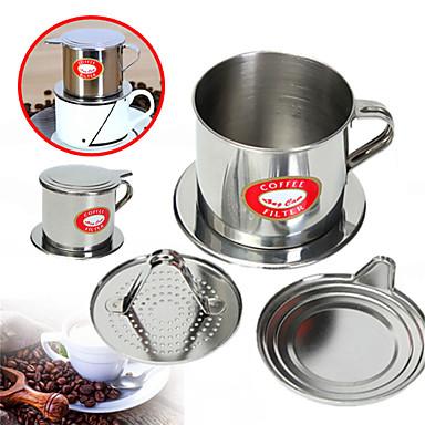 Roestvast staal Handmatig / Voor hergebruik / met Cup Stand 1pc Koffiefilter
