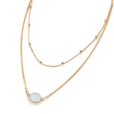 Damen Stern Einzigartiges Design Euramerican Halsketten Synthetischer Diamant Harz Aleación Halsketten . Hochzeit Party Alltag Normal
