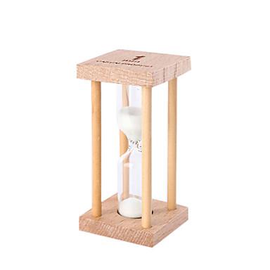 Kleine Sanduhr Pendel Countdown 1/3 / 5 Minuten Zeit Mini Glas Holz Geschenk
