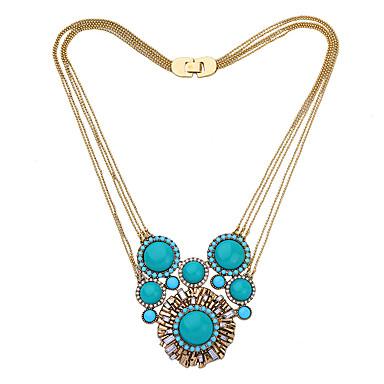 Damskie Warstwy Naszyjniki Kryształ Modny Osobiste euroamerykańskiej minimalistyczny styl Light Blue Biżuteria Na Ślub Impreza 1szt