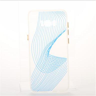 Pouzdro Uyumluluk Samsung Galaxy S8 Plus S8 Kaplama Karanlıkta Parlayan Arka Kılıf Çizgiler / Dalgalar Yumuşak TPU için S8 S8 Plus