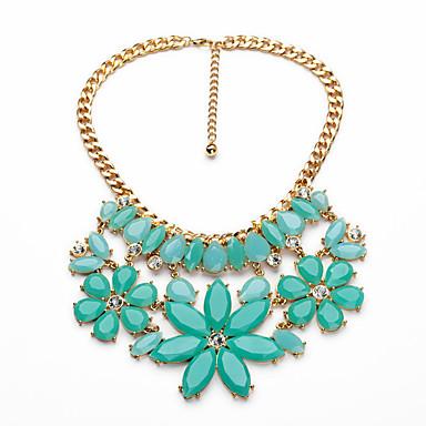 Γυναικεία πολυεπίπεδη Κολιέ Κρυστάλλινο Μοντέρνα Εξατομικευόμενο Euramerican Πράσινο Ανοικτό Κοσμήματα Για Γάμου Πάρτι 1pc
