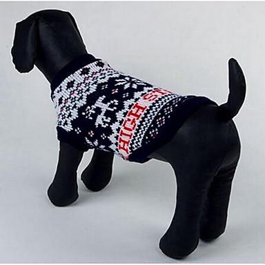 Pies Swetry Ubrania dla psów Codzienne Modny Rysunek Black