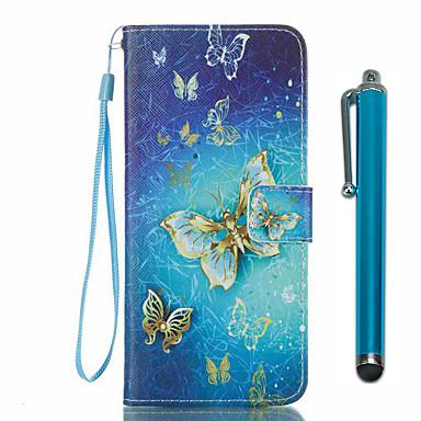 hoesje Voor Samsung Galaxy S8 Plus S8 Kaarthouder Portemonnee met standaard Flip Patroon Volledig hoesje Vlinder Hard PU-nahka voor S8