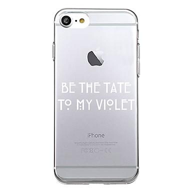 Για Θήκες Καλύμματα Εξαιρετικά λεπτή Με σχέδια Πίσω Κάλυμμα tok Λέξη / Φράση Μαλακή TPU για Apple iPhone 7 Plus iPhone 7 iPhone 6s Plus
