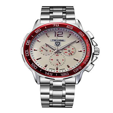 Tevise Męskie Dla par Kwarcowy zegarek mechaniczny Kalendarz Wodoszczelny Świecący Stal nierdzewna Pasmo Vintage Na co dzień Artystyczny