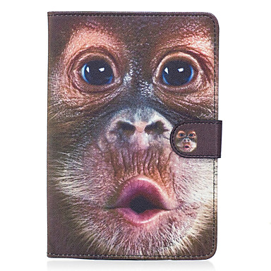 Für Apfel ipad mini 4 3 2 1 Fall Abdeckung Affe Muster gemalt Karte Stent Brieftasche PU Haut Material flache Schutzhülle