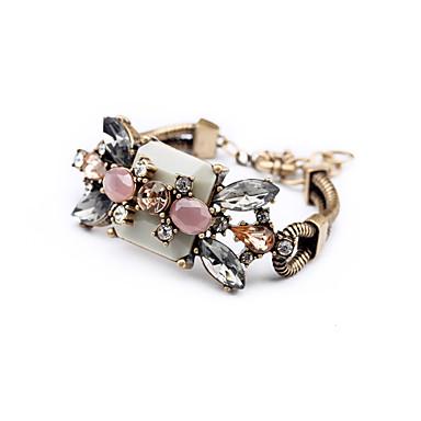 Dames Armbanden met ketting en sluiting Vriendschap Modieus Strass Legering Ronde vorm Sieraden Voor Bruiloft Feest Verjaardag
