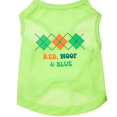Köpek Vesta Köpek Giyimi Sevimli Günlük/Sade Harf & Sayı Yeşil