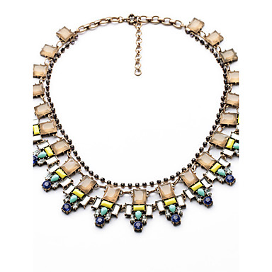Damskie Pasemka Naszyjniki Geometric Shape Spersonalizowane Luksusowy Biżuteria Na Ślub