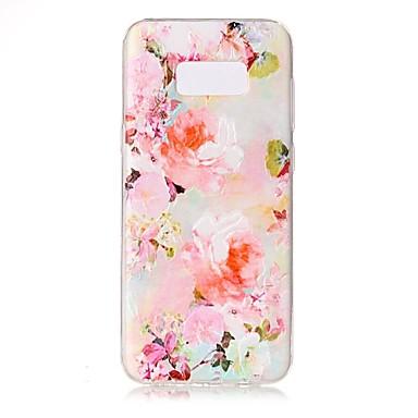 Maska Pentru Samsung Galaxy S8 Plus S8 Transparent Embosat Model Carcasă Spate Floare Moale TPU pentru S8 S8 Plus S7 edge S7