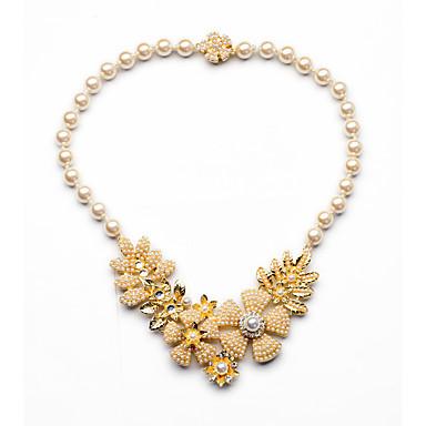 Damskie Pasemka Naszyjniki Flower Shape Słodkie Style Chrismas Yellow Biżuteria Na 1szt