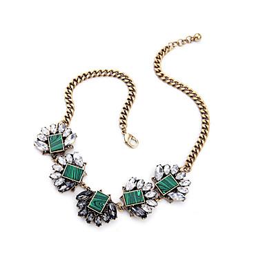 Damskie Pasemka Naszyjniki Kryształ Unikalny Godny podziwu Osobiste Słodkie Style euroamerykańskiej Light Green Biżuteria Na Ślub Impreza