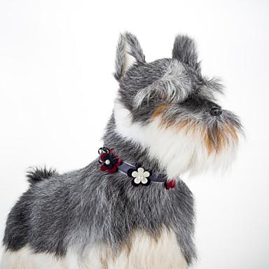 Kat Hond Kraag Verstelbaar / Uitschuifbaar Bloem tekstiili Grijs Groen Roze