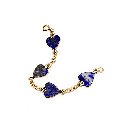 Γυναικεία Βραχιόλια με Αλυσίδα & Κούμπωμα Φιλία Μοντέρνα Κράμα Heart Shape Κοσμήματα Για