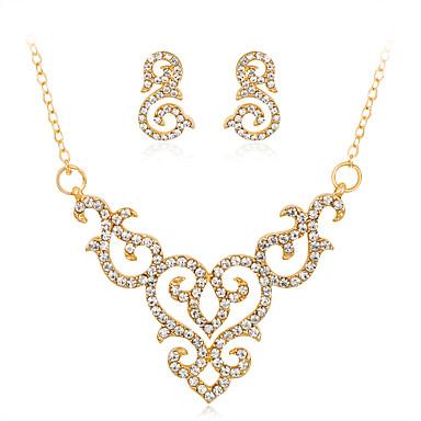 Damen Geometrisch Schmuck-Set - Strass Modisch, Euramerican Einschließen Halskette Gold Für Hochzeit / Party / Besondere Anlässe
