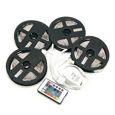 ZDM® 4x5M Taśmy świetlne RGB Zestawy oświetlenia 4x150 Diody LED 1 Pilot zdalnego sterowania 44Keys 1x Złącze kabla 1 do 4 RGB Nadaje się