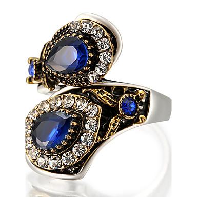 Damen Statementringe Ring Personalisiert Luxus Einzigartiges Design Retro Modisch Euramerican Schmuck mit Aussage Glas Aleación