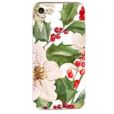 Maska Pentru Apple Transparent Model Carcasă Spate Floare Moale TPU pentru iPhone 7 Plus iPhone 7 iPhone 6s Plus iPhone 6 Plus iPhone 6s