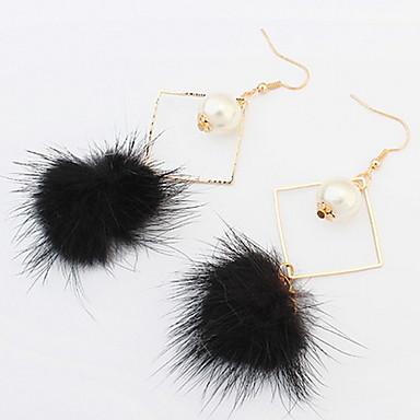 Damen Tropfen-Ohrringe Kreolen Imitierte Perlen Freundschaft Elegant nette Art Modisch Künstliche Perle Feder Aleación Kugel Schmuck