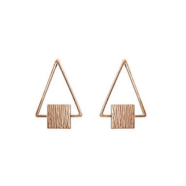 Damen Mädchen Ohrstecker Schmuck Personalisiert Geometrisch Einzigartiges Design Klassisch Etikett Schmuck mit Aussage Euramerican