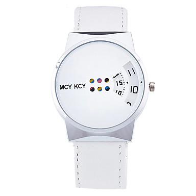 Kadın's Moda Saat Bilek Saati Quartz / Deri Bant Havalı Günlük Siyah Beyaz Yeşil