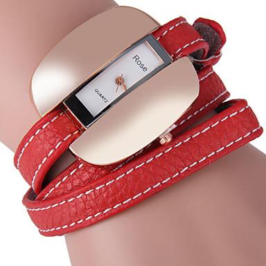 JUBAOLI Moda Saat Benzersiz Yaratıcı İzle Quartz Deri Bant İhtişam Günlük Siyah Beyaz Kırmızı Kahverengi Beyaz Siyah Kahve Kırmzı