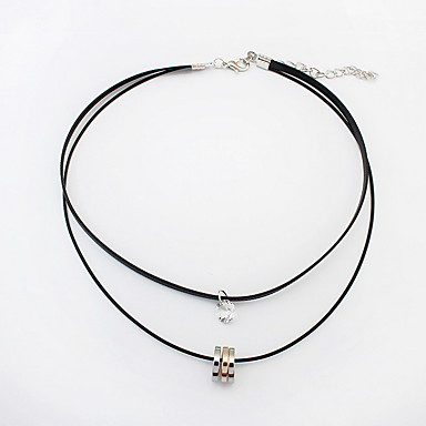 billige Mode Halskæde-Dame Kort halskæde Smykker Smykker Fjer Legering Mode Personaliseret Euro-Amerikansk Smykker Til Fest Speciel Lejlighed