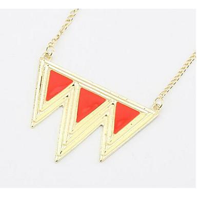 Heren Dames Driehoek Geometrische vorm Gepersonaliseerde Bloemen Religieuze sieraden Uniek ontwerp Hangende stijl Klassiek Vintage