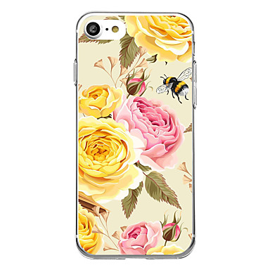 voordelige iPhone 5 hoesjes-hoesje Voor iPhone 7 / iPhone 7 Plus / iPhone 6s Plus iPhone SE / 5s Ultradun / Patroon Achterkant Bloem Zacht TPU