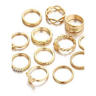 Γυναικεία Σετ Κοσμημάτων Δαχτυλίδι Βασικό Συνθετικοί πολύτιμοι λίθοι Κυκλικό Δακτυλίδια Για Καθημερινά Causal Δώρα Γάμου