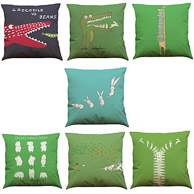 7 szt Bielizna Pokrywa Pillow Poszewka na poduszkę,Wildlife Słowa i cytaty Stały Nowość TexturedTradycyjny / Classic Wałek Styl plażowy