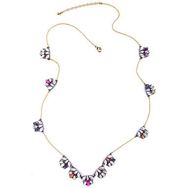 Kadın's Zincir Kolyeler Kristal Eşsiz Tasarım Kişiselleştirilmiş Euramerican Gökküşağı Mücevher Için Düğün Parti 1pc