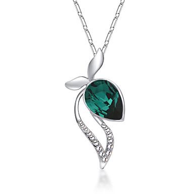 Kadın's Uçlu Kolyeler Kristal Euramerican Çok güzel Kişiselleştirilmiş sevimli Stil Mor Gül Kırmızısı Kırmzı Açık Mavi Açık Yeşil Mücevher
