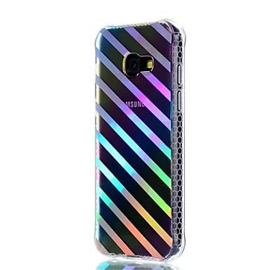 غطاء من أجل Samsung Galaxy A5(2017) A3(2017) ضد الصدمات تصفيح شبه شفّاف نموذج غطاء خلفي خطوط / أمواج ناعم TPU إلى A3 (2017) A5 (2017)