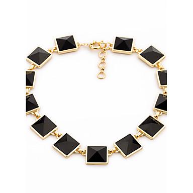 للمرأة فروع القلائد Square Shape تصميم فريد أسود مجوهرات إلى يوميا 1PC