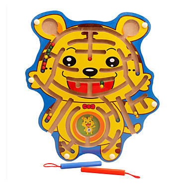 Spielzeuge Magnetische Labyrinthe Spielzeuge Magnetisch Tiger Holz Stücke Unisex Geschenk