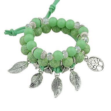 للمرأة أساور ساحرة مصنوع يدوي موضة سبيكة Leaf Shape مجوهرات حزب الذكرى السنوية عيد ميلاد هدية مجوهرات