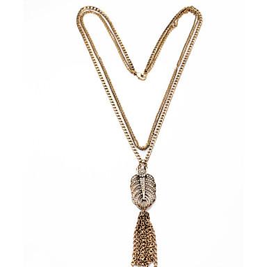 Kadın's Uçlu Kolyeler Geometric Shape Eşsiz Tasarım Püsküller Euramerican Altın Mücevher Için Günlük Yılbaşı Hediyeleri 1pc