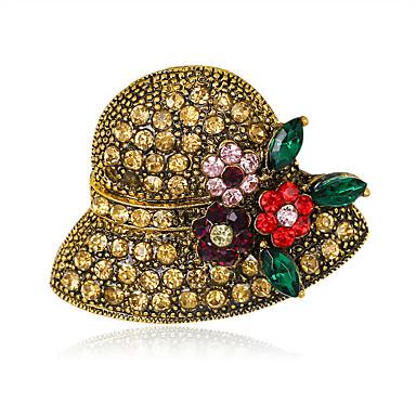 Dame Broșe La modă Euramerican Ștras Aliaj Geometric Shape Bijuterii Pentru Nuntă Petrecere Ocazie specială Zilnic
