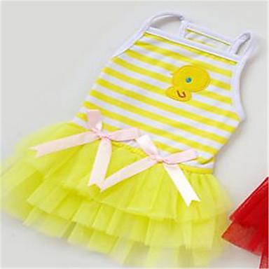 Köpek Elbiseler Köpek Giyimi Günlük/Sade Çizgi Sarı Kırmzı Pembe Kostüm Evcil hayvanlar için