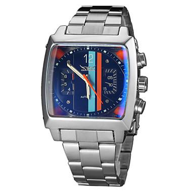 Homens Automático - da corda automáticamente Único Criativo relógio relógio mecânico Relógio de Pulso Calendário Aço Inoxidável Banda Luxo