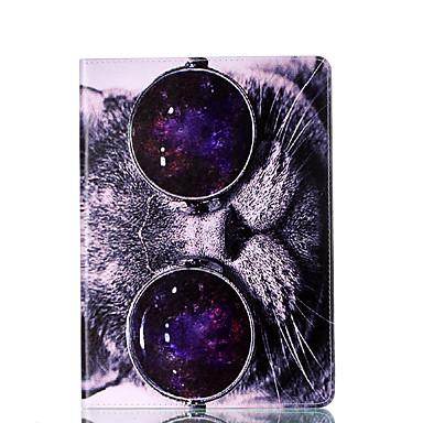 Pentru galaxie samsung tab 9.7 a 7.0 e 9.6 caz acoperă pisica carte model stent pu materiale coajă de protecție plate