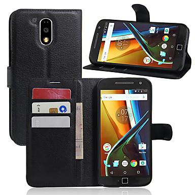 Hülle Für Moto G Motorola Moto Nexus 6 Kreditkartenfächer Geldbeutel Stoßresistent mit Halterung Ganzkörper-Gehäuse Volltonfarbe Hart