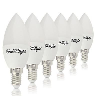 4W E14 E12 أضواء شموغ LED 10 الأضواء SMD 5730 أبيض دافئ أبيض كول 320lm 3000/6000K AC 85-265V